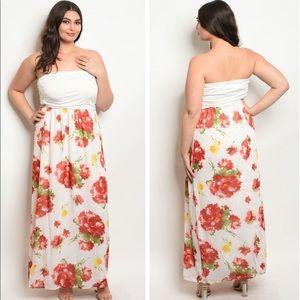 Dresses & Skirts - Floral Tube Top Dress
